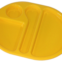 LARGE MEAL TRAY 38X28CM YELLOW