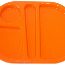 SMALL MEAL TRAY 28X23CM ORANGE