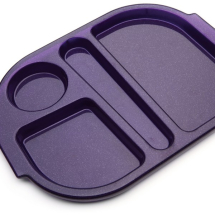 SMALL MEAL TRAY 28X23CM PURPLE SPARKLE