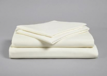 IVORY SINGLE FITTED POLY COTTON SHEET 191 X 90CM