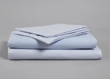 SKY BLUE SINGLE FITTED POLY COTTON SHEET 191 X 90CM