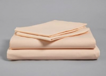PEACH POLYESTER COTTON SINGLE FITTED SHEET 191 X 91CM