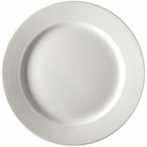 OLYMPIA LINEAR WIDE RIMMED PLATE WHITE 10inch X12