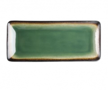 OLYMPIA NOMI RECTANGULAR PLATE GREEN 245MM X 6   HC530