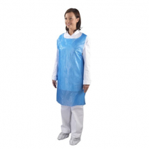 BLUE PLASTIC APRONS ON A ROLL 5X200 11MU
