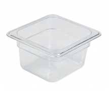 1/6 POLYCARBONATE CLEAR GN PAN 100mm DEPTH