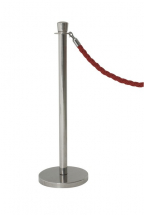 STAINLESS STEEL BARRIER POST 100X32CM  X2