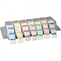 REMOVABLE DAY LABEL DISPENSER & SET OF LABELS CLEARVIEW