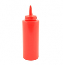 RED SQUEEZY SAUCE BOTTLE 12OZ