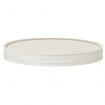SAVORI WHITE HOT POT LID FOR 26OZ Container