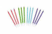 SWEETLY DOES IT POLKA DOT WAX CELEBRATION CANDLES 6X24