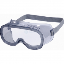 SAFETY GOGGLES WITH ELASTICATED STRAP