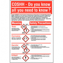 600X420MM COSHH WALLCHART RIGID inch DO YOU KNOW?inch