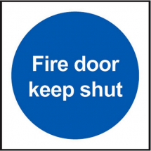 SELF ADHESIVE inchKEEP FIRE DOOR SHUTinch 100x100