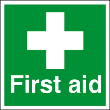 FIRST AID SIGN WITH SYMBOL 150X110 S/A E04X-S