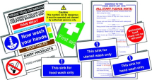 JUNIOR HYGIENE CATERING PACK 10 SELF ADHESIVE SIGNS