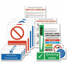FOOD PREPARATION SIGN PACK X14 KITCHEN HYGIENE & SAFETY