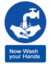WASH YOUR HANDS PLEASE 210X148MM S/A