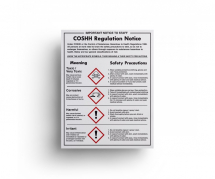 COSHH CONTROL WALL SIGN