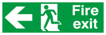 SELF ADHESIVE EMERGENCY EXIT SIGN 150X300MM LEFT
