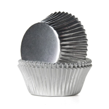 SILVER CUPCAKE CASES 51 x 38mm