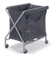NUMATIC SERVO-X 240LTR LAUNDRY TROLLEY WITH GREY BAG