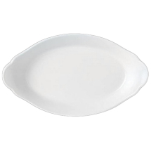 OVAL EARRED DISH 20CM X 11CM SIMPLICITY (WHITE) 11010318