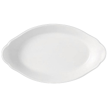 OVAL EARRED DISH 24.5X13.5CM SIMPLICITY (WHITE) 11010319