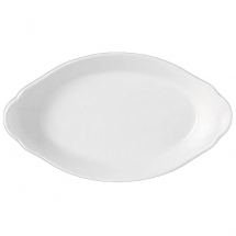 OVAL EARRED DISH 30.5 X 17CM SIMPLICITY (WHITE) 11010320