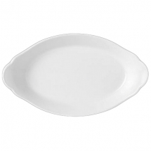 OVAL EARRED DISH 34CM X 19CM SIMPLICITY (WHITE) 11010321