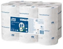 TORK SMARTONE MINI JUMBO TOILET ROLL WHITE