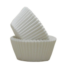 WHITE GREASEPROOF MUFFIN CAKE CASES 51 X 38MM