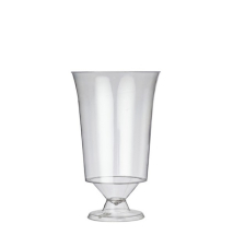 PLASTIC WINE GLASS FLAIR STEMMED 180ML