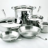 Image for Stainless steel pots and pans