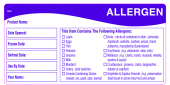 Image for Allergen labels